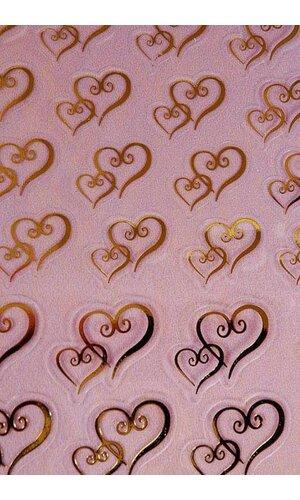 DOUBLE GOLD HEART FAVOR STICKER PKG/106