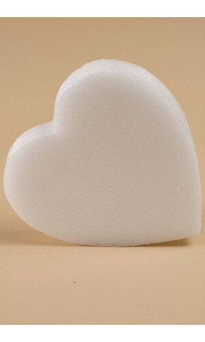"""6"""" WHITE SOLID HEART PKG/3"""