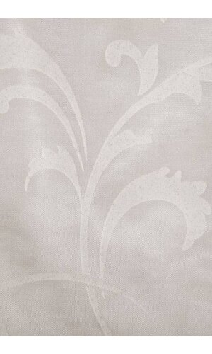"""54"""" X 108"""" PRINTED SATIN TABLE COVER WHITE"""