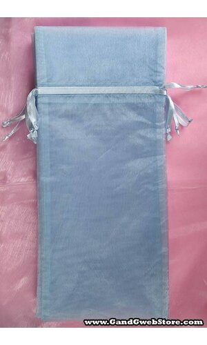 "6.5"" X 15"" WINE BAG BLUE PKG/12"