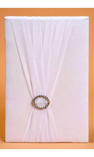 GUEST BOOK W/ ROMANCE RING WHITE