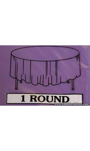 RECTANGULAR/ROUND PLASTIC TABLE COVER PURPLE