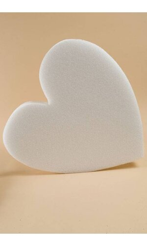 """9"""" SOLID HEART WHITE"""