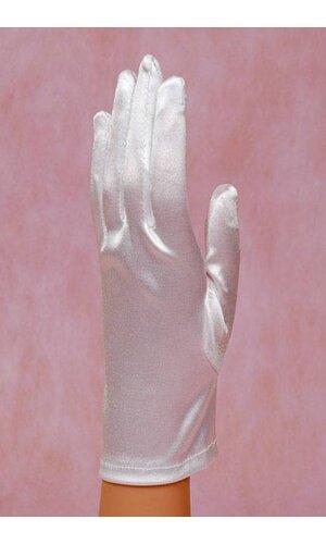 """8"""" SATIN GLOVE WHITE"""