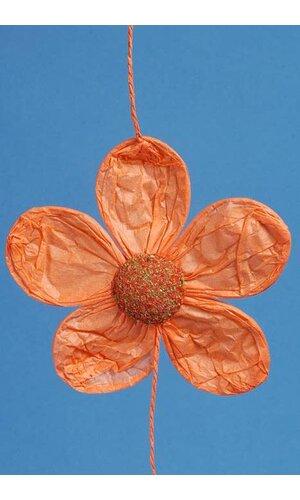 """5"""" X 60"""" PAPER FLOWERS GARLAND ORANGE"""