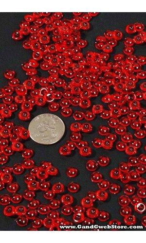 MINI PLASTIC PEBBLES RED PKG/1LB