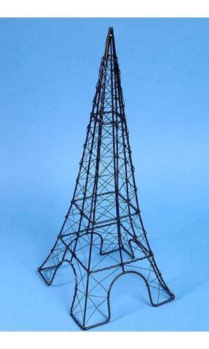 """18"""" WIRE EIFFEL TOWER BLACK"""