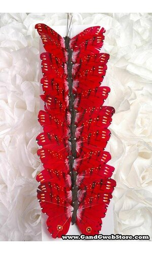 """3"""" BUTTERFLY RED PKG/12"""