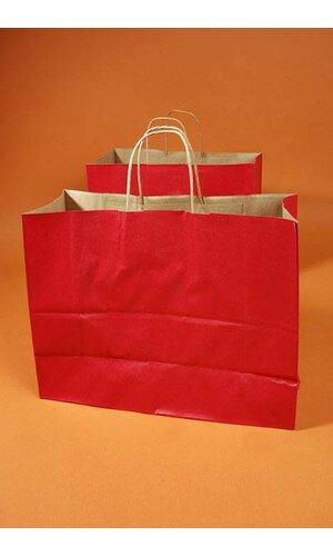 "16"" X 6"" X 12"" VOGUE KRAFT SHOPPING BAG RED PKG/10"
