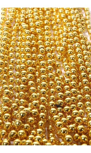 ROUND PARTY BEADS GOLD PKG/12