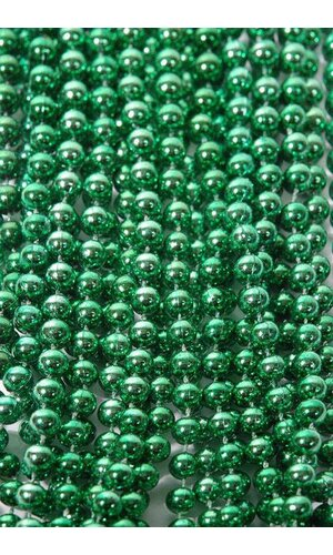 ROUND PARTY BEADS GREEN PKG/12