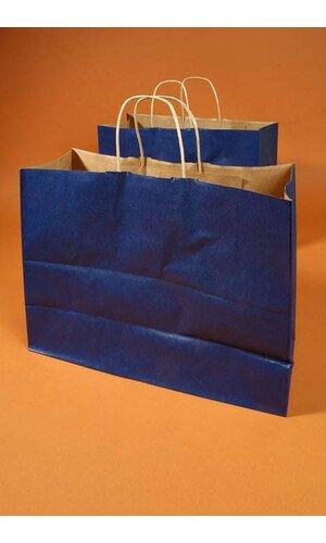"16"" X 6"" X 12"" VOGUE KRAFT SHOPPING BAG NAVY BLUE PKG/10"