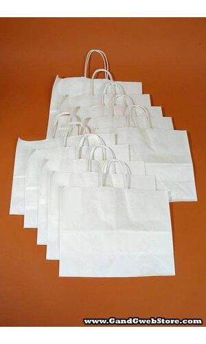 "16"" X 6"" X 12"" VOGUE KRAFT SHOPPING BAG WHITE PKG/10"