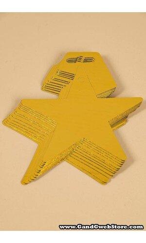 """5"""" FOIL STARS GOLD PKG/12"""