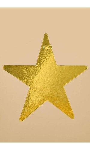 """9"""" FOIL STARS GOLD PKG/12"""