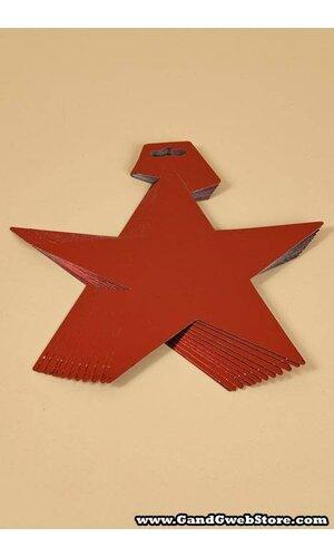 """12"""" FOIL STARS RED PKG/12"""