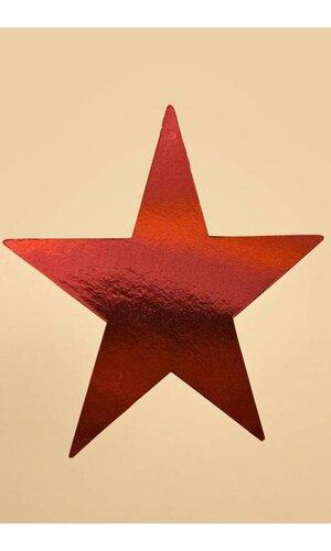 "5"" FOIL STAR RED PKG/12"