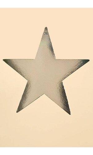"""9"""" FOIL STARS SILVER PKG/12"""