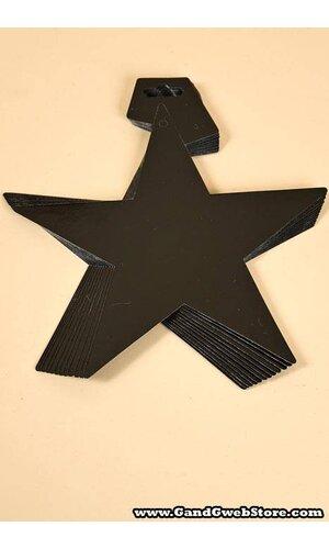 """5"""" FOIL STARS BLACK PKG/12"""