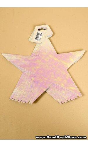 """5"""" FOIL STARS OPAL PKG/12"""