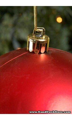 150MM MATT PLASTIC BALL RED