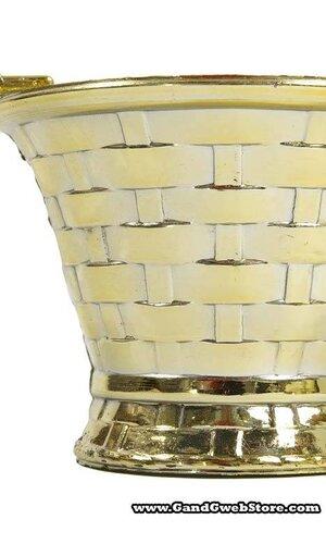 """10"""" HANDLED BASKET GOLD PKG/6"""