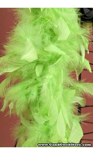 """72"""" FEATHER BOAS (60GM) LIME GREEN"""