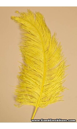 """18""""-22"""" OSTRICH FEATHER YELLOW PKG/12"""