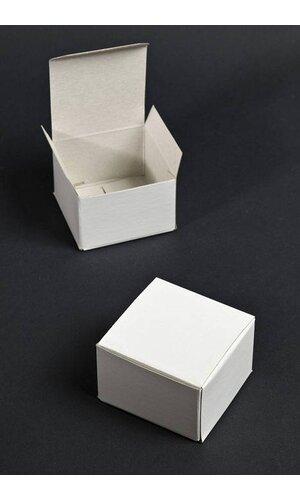 """3"""" X 3"""" X 2"""" ONE PIECE BOX WHITE PKG/25"""