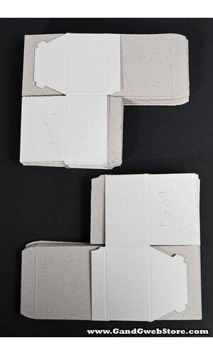 """4"""" X 4"""" X 2"""" ONE PIECE BOX WHITE PKG/25"""