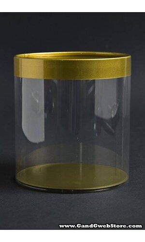 "4' X 4"" CYLINDER BOX GOLD PKG/6"