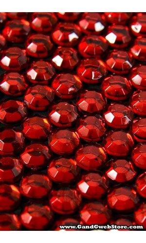 5MM ACRYLIC ROUND RHINESTONE RED (APPR. 210 PCS)