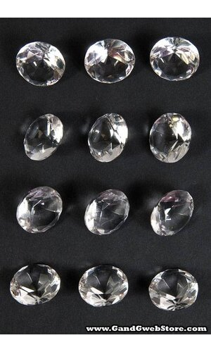 20MM CRYSTAL DIAMOND CLEAR PKG/12
