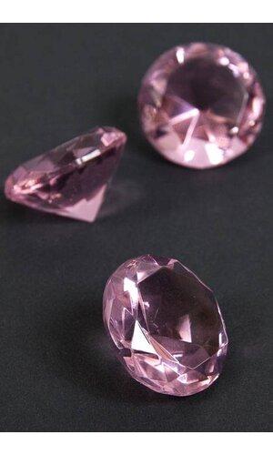 "1.25"" CRYSTAL DIAMOND PINK PKG/12"