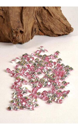 7MM DIAMOND RHINESTONE PINK PKG/192