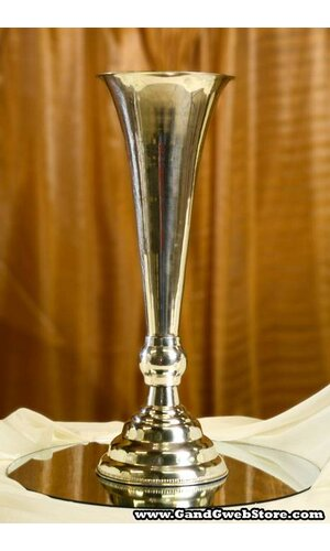 """22.25"""" SILVER PLATED FLUTED VASE"""