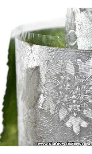 """20"""" X 30' POLY EMBOSSED FOIL SILVER EA"""