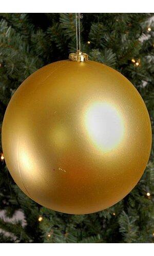 200MM MATT PLASTIC BALL GOLD