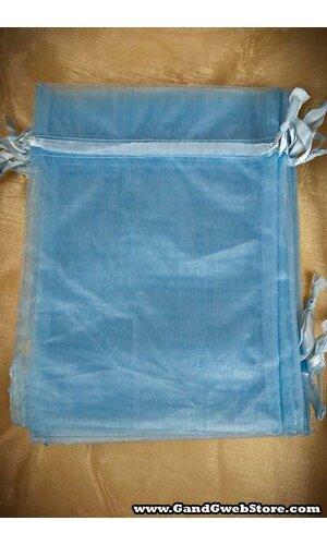 "5"" X 7"" SHEER POUCHES BAG LIGHT BLUE PKG/12"