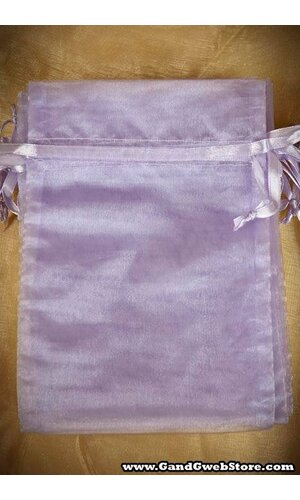 "5"" X 7"" SHEER POUCHES BAG LAVENDER PKG/12"