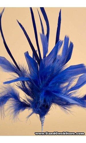 "20"" OWL FEATHER SPRAY ROYAL BLUE PKG/12"