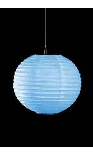 "10"" ROUND PAPER LANTERN LIGHT BLUE"