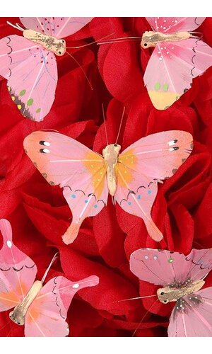 "3"" NYLON WHOLESALE DECORATIVE BUTTERFLY ASSORTED PKG/12"