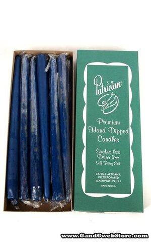 "12"" PATRICIAN TAPER COBALT BLUE BOX/12"