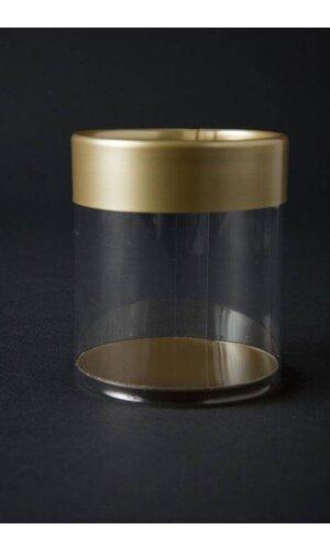 "2"" X 2"" GOLD CYLINDER BOX PKG/6"