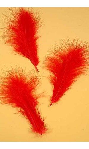 "7"" OSTRICH FEATHER RED PKG/50"