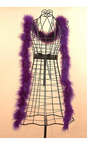 "72"" FEATHER MARABOU PURPLE EA"