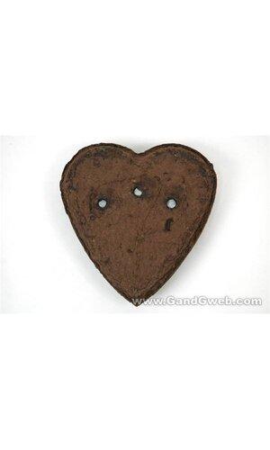 "12"" SOLID HEART OASIS GREEN PKG/2"
