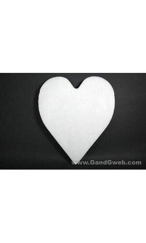 "24"" WHITE SOLID HEART EA"