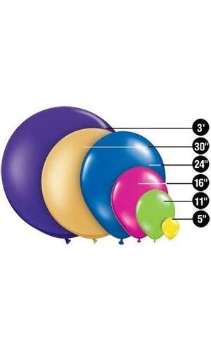 """5"""" ROUND STANDARD LATEX BALLOON PINK PKG/100"""
